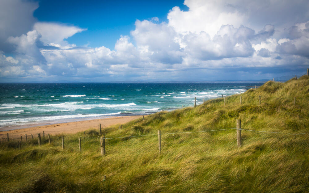 grasslands of Fanore beach of beaches in Ireland