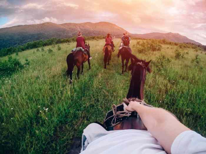 The GoPro alternative Polaroid Cube is great and portable for all adventures like horseback riding!