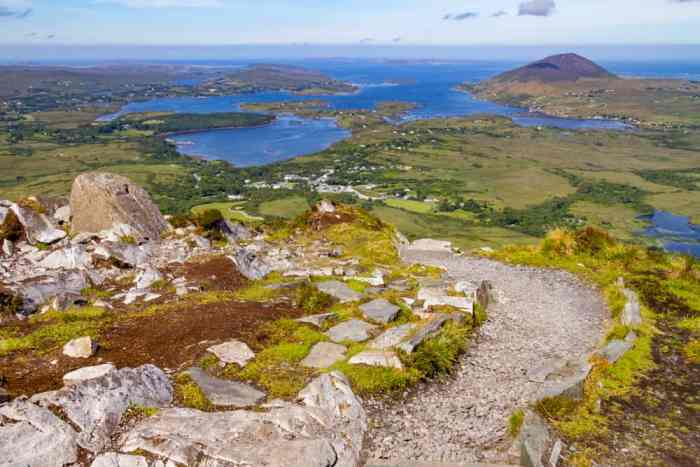 one of the hikes in Ireland for a short uphill journey near the ocean check out Diamond Hill