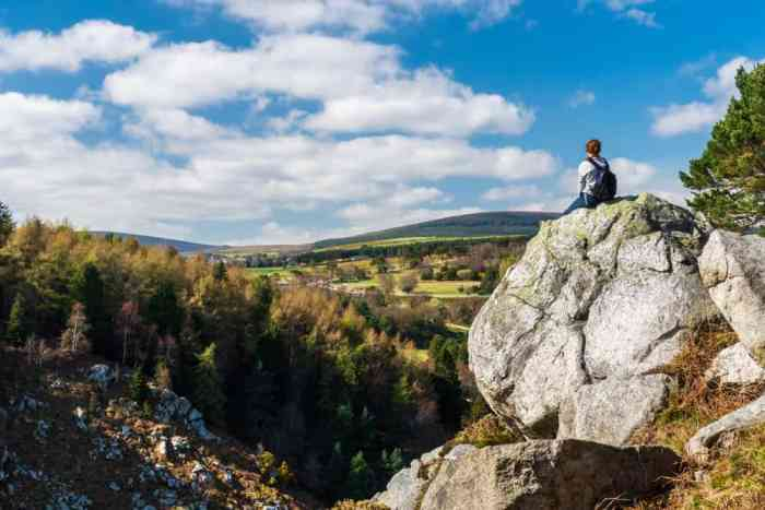 For a mountain view check out of on the easy hikes in ireland to the Scalp Lookout