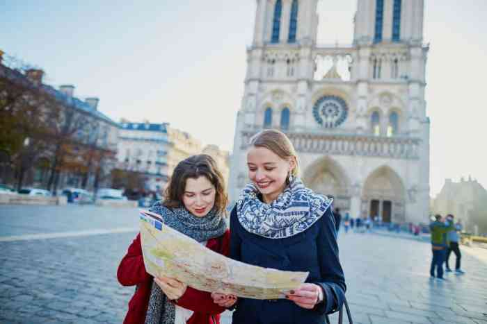female couple on their honeymoon in Paris