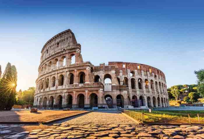 Admire the Colosseum in Rome