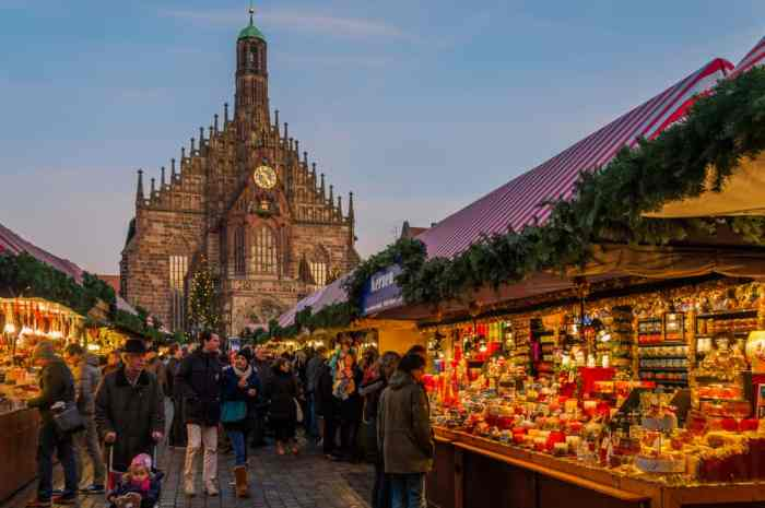 Many visitors travel to Germany to see this popular Christmas market