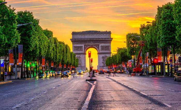 The Arc de Triomphe in Paris, where to end your France road trip