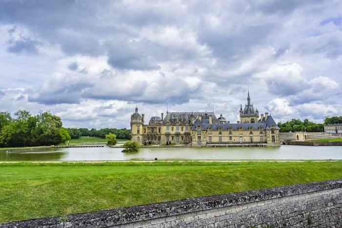 The beautiful Chateau de Chantilly in Chantilly, stop 10 on your France road trip