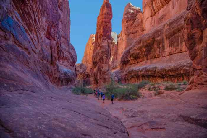 Fiery Furnace is one of the best Arches National Park hikes for agile hikers
