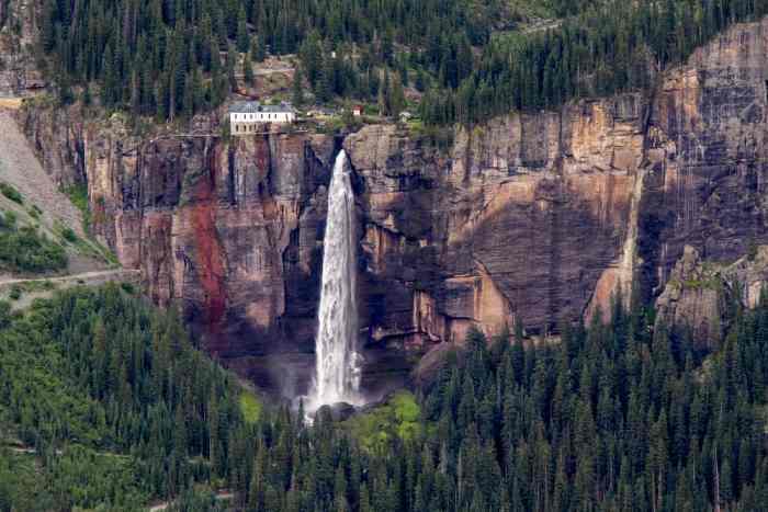 explore Bridal Veil Falls in Telluride on your Colorado road trip