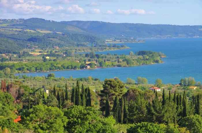 One of the lakes in Italy, Lake Bolsena