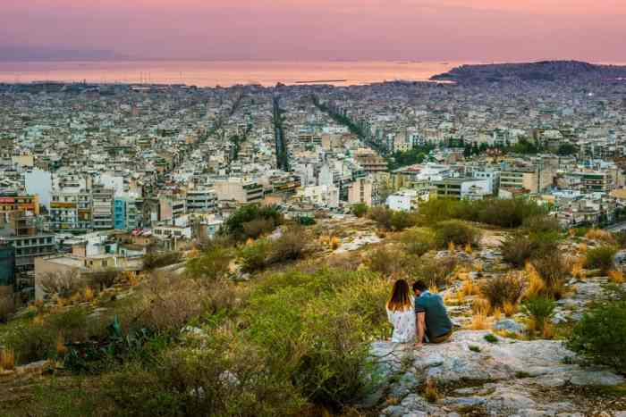 Photo of mountain view of Athens.