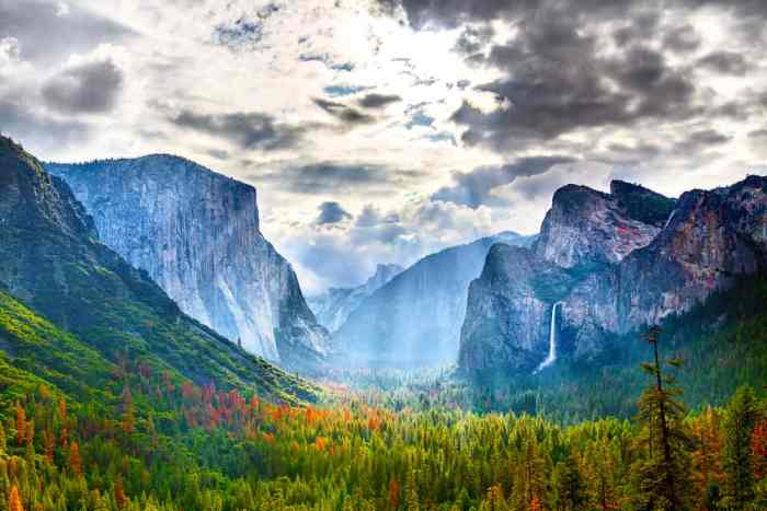 the view of Yosemite Valley from Tunnel View on your west coast road trip
