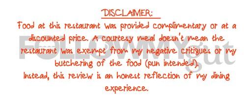 FMG Disclaimer - Complimentary Food v4