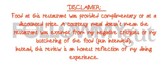 FMG Disclaimer - Complimentary Food v4