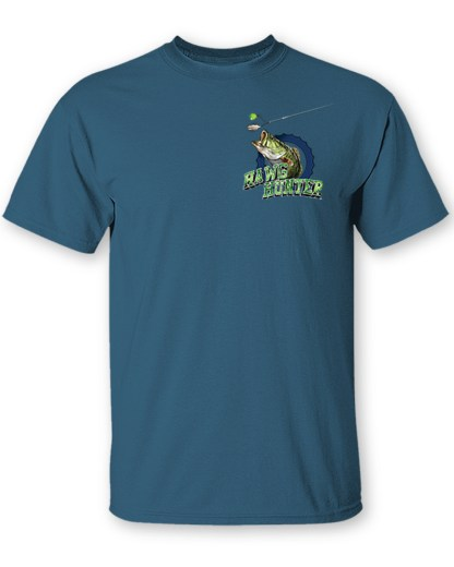 """Follow the Action - Largemouth Bass """"Hawg Hunter"""" T-Shirt - Front"""