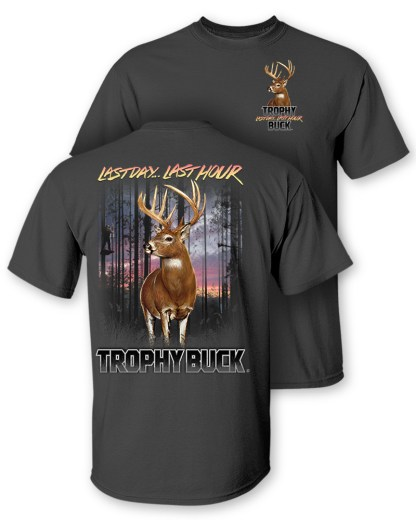 "Follow the Action - Whitetail Deer ""Trophy Buck"" Two- Sided T-Shirt"