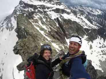 Contenti in cima alla Punta Noci!