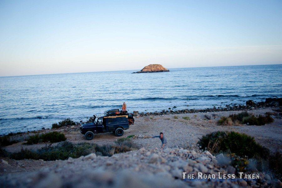 Land Rover on Spain's Mediterranean Coastline
