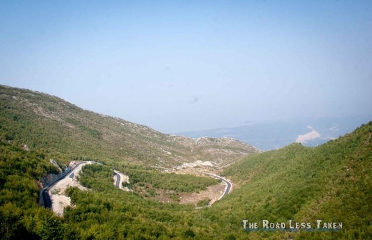 Albania mountain roads