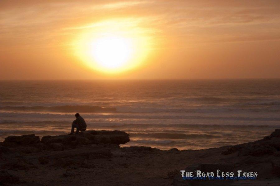 Sun setting near Plage Blanche
