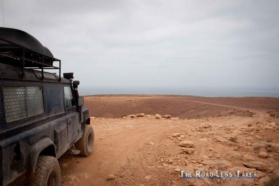 Overland travel on Morocco's coast