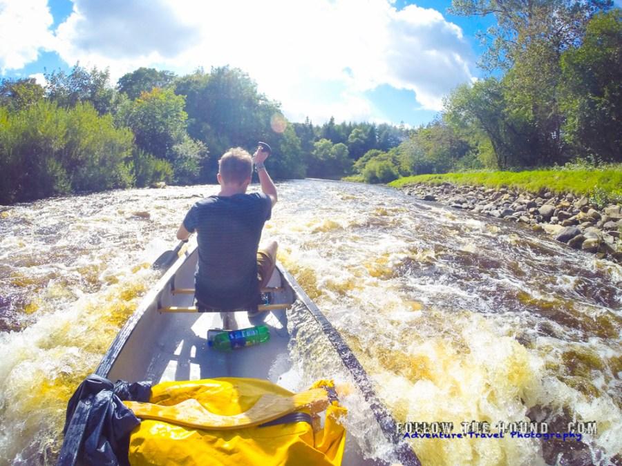 canoeing River Esk