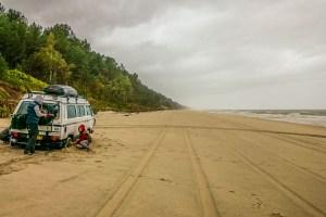 VW Campervan on Vistula Spit Beach
