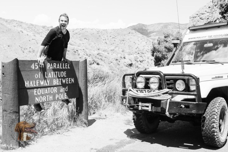 Just crossed the 45th Parallel of Latitude. About a year from now we will be hitting its oposite number in South America! #overland #panamericas #USA