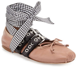 miu-miu-belted-gingham-ankle-wrap-ballerina-flats-nude