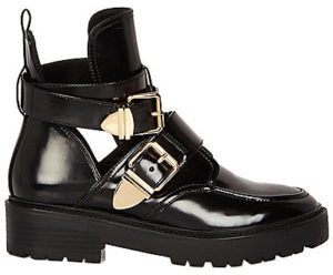 river-island-double-buckle-cut-out-boots-black-patent-balenciaga-ceinture-dupes