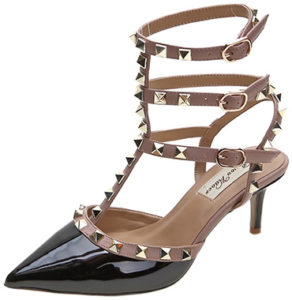 royou-yiuoer-studded-t-strap-kitten-heel-pumps-black-nude-patent-valentino-rockstud-dupes