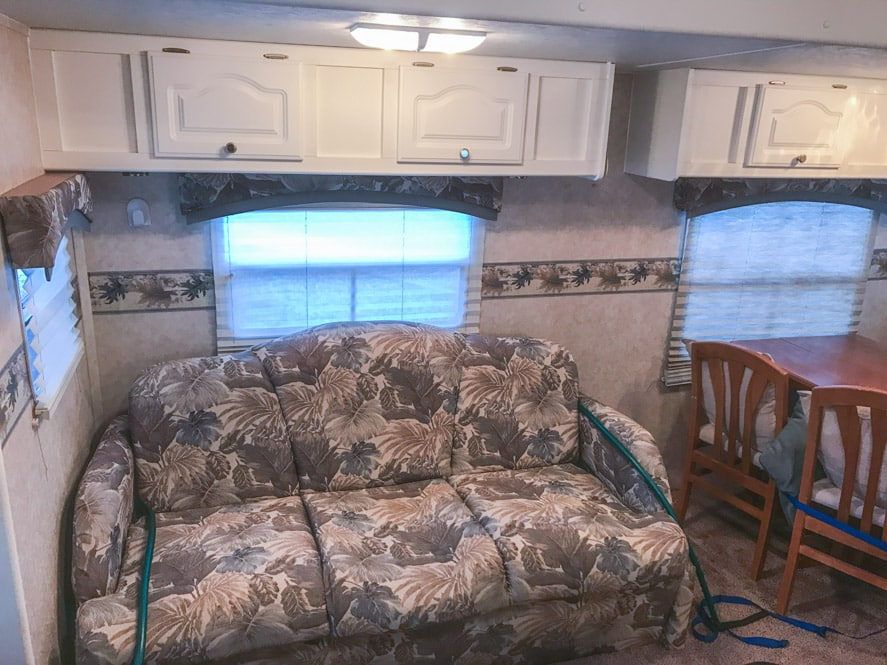 futon sofa bed amazon two seater cheap 6 quick & easy remodel projects that transformed our rv ...