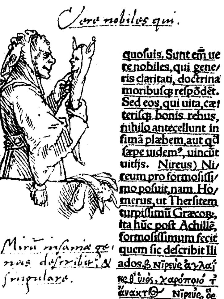 Han Holbein, marginal drawing in The Praise of Folly.