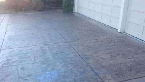 cement patio contractor colored
