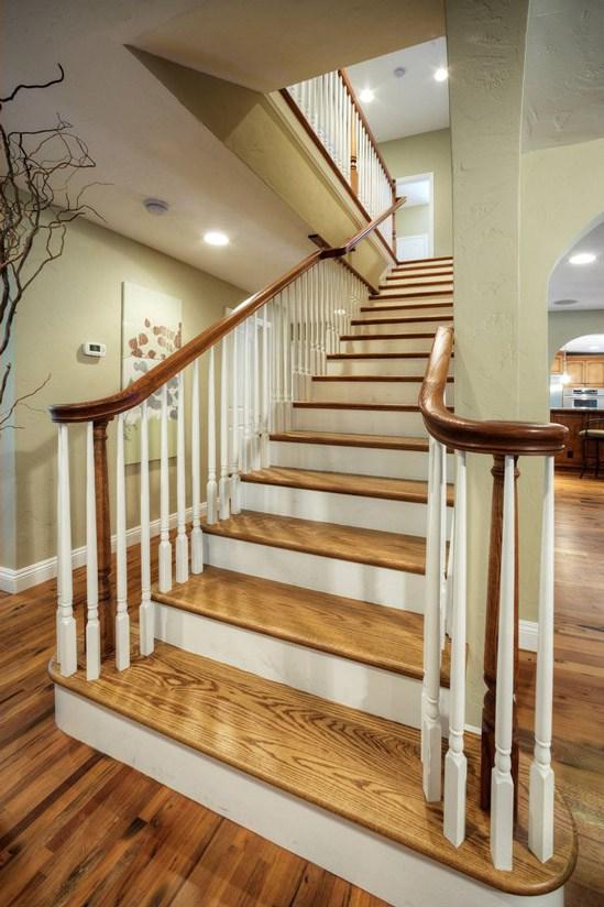 Hardwood Stair Treads Folsom Stair Woodworks | Installing Oak Stair Treads | Carpet | Anti Slip Stair | Wood Flooring | Laminate Flooring | Risers