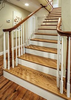 Hardwood Stair Treads Folsom Stair Woodworks | Wood Floor Stair Treads | Brazilian Cherry | Stair Nosing | Oak Stair Risers | Vinyl Flooring | Carpet