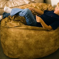 Lovesac Sofa Covers Leather Sectional With Sleeper Three Foot Foam Filled Bean Bag