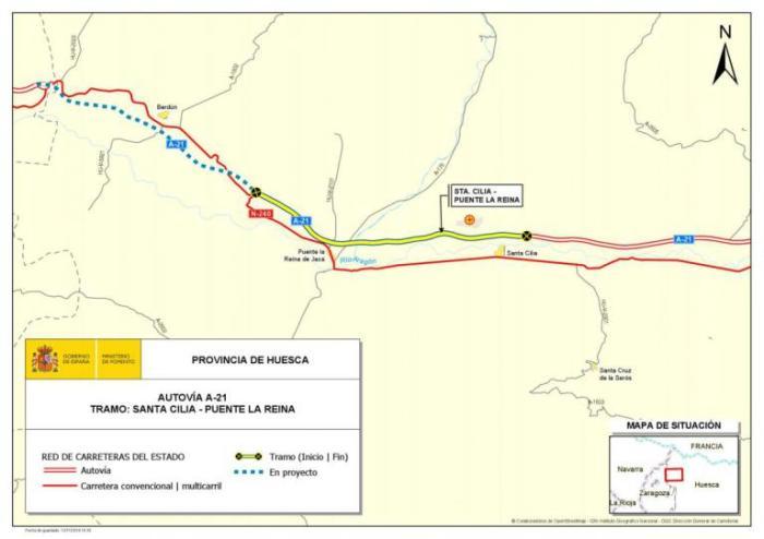 Imagen noticia: Mapa de situación - Ministerio de Fomento.