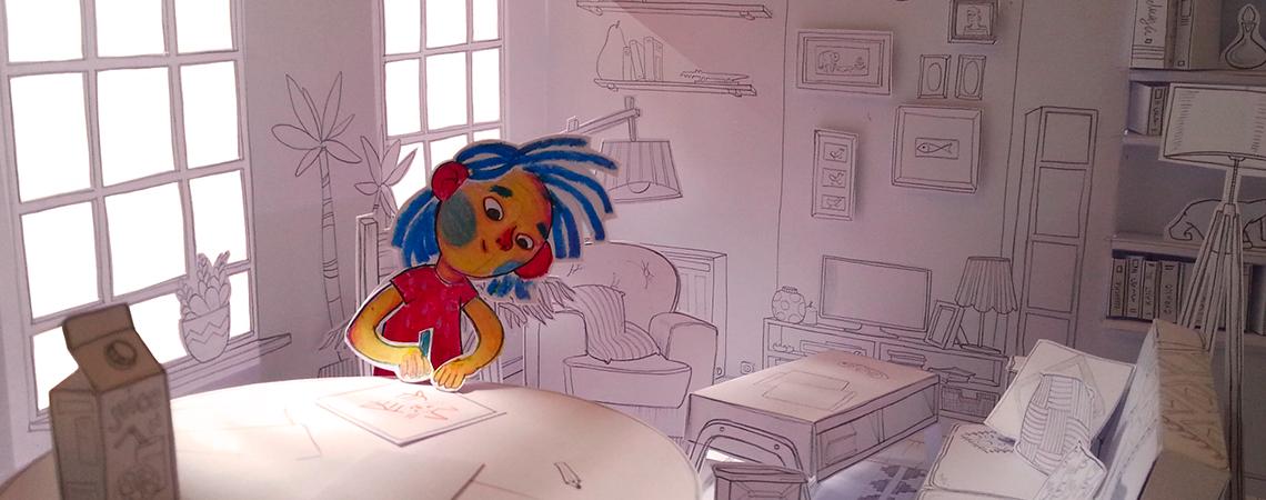 Dessin animé de Nina Heckel, 5e année 2017-2018
