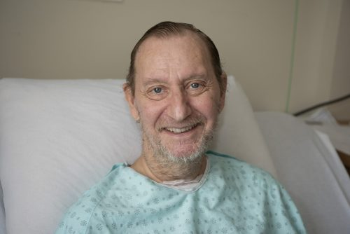 Photo de François Quenot qui est resté près de trois mois à l'Hôpital Maisonneuve-Rosemont