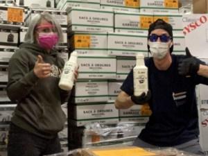 Lalema, compagnie de produits sanitaires a offert du désinfectant