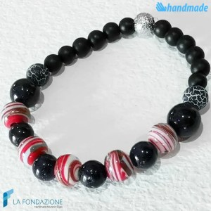 Zanzibar bracelet in Black made in Murano glass - BRAC0062