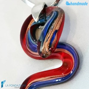 Collana Serpico in vetro di Murano - COLL0078