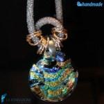 Collana Rete Silver Dicroico in vetro di Murano - COLL0079