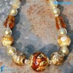Collana Perla Vetrata in vetro di Murano – COLL0084