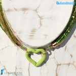Collana Sciarpina Conteria Cuore in vetro di Murano – COLL0086