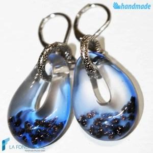 Orecchini Sparkling Blu in vetro di Murano - EARRINGSC0004