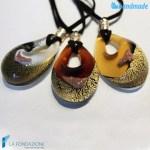 Goccia oro rotto in vetro di Murano - PEND0011