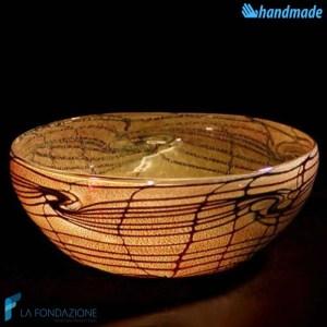 Bowl Rete Svuotatasche in vetro di Murano - BOWL0004