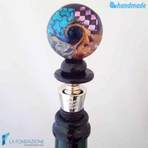 Tappo da bottiglia Dicroico Tondo in vetro di Murano - CAPS0018