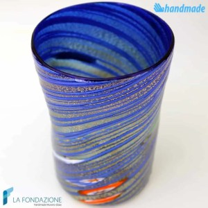 Goto Tornado Blue made in Murano glass - GOTI0033