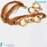 Parure Conteria Tre Cerchi Oro in vetro di Murano - PARU0002